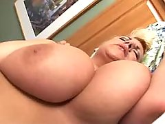 Blonde BBW crazy fucks in doggy style