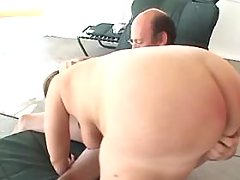 Chubby brunette milf gets creampie after hard fuck busty fats