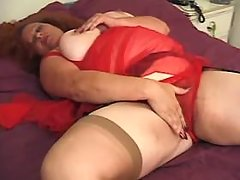 Fat vixen gets real fuck and cum on giant melons