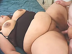 Enormous fat lady satisfy lucky men