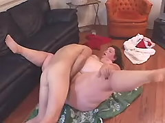 Innocent fat slut fucking on floor