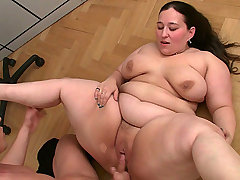 BBW takes off work to fuck